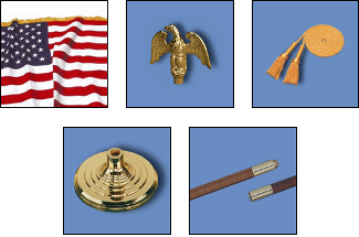 Our deluxe American Flag sets come complete with these 5 essential components